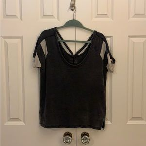 Free People baseball t-shirt with back detail